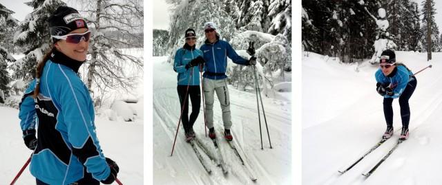 Trude på ski
