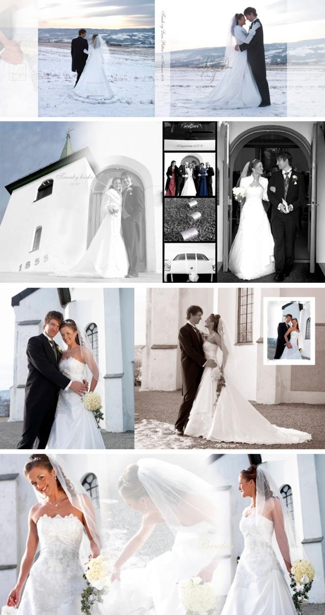 Bilder fra bryllupsalbumet