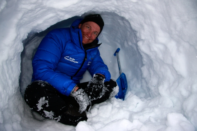 Lars Petter i snøhula