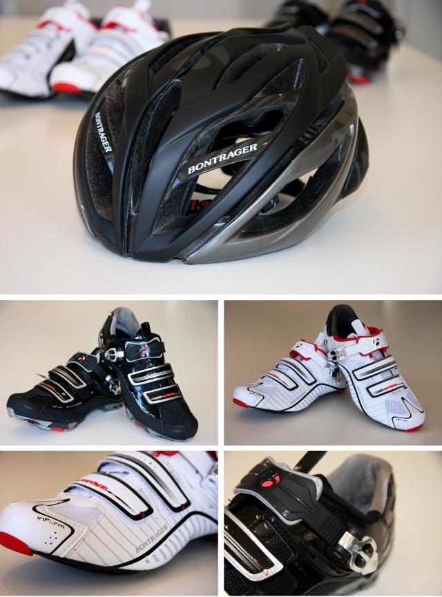 Ny hjelm og nye sykkelsko fra Bontrager