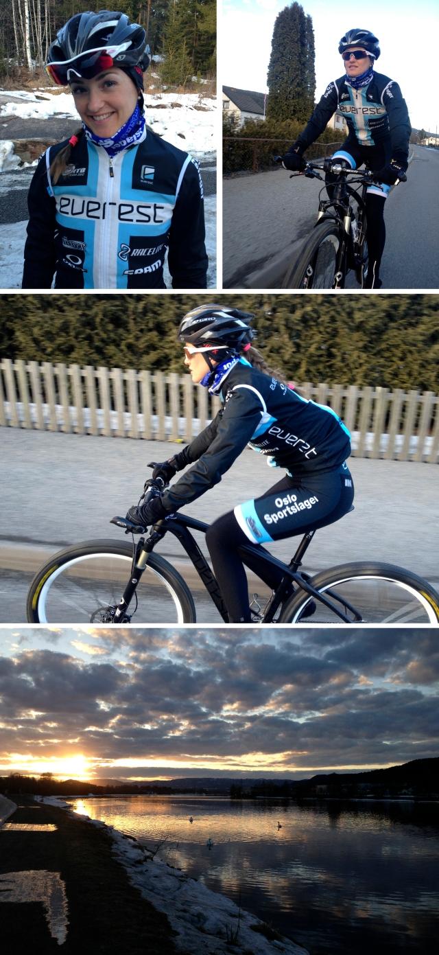 Årets første sykkeltur