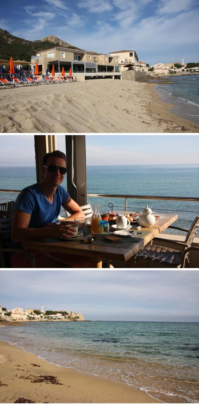 Første morgen på Korsika