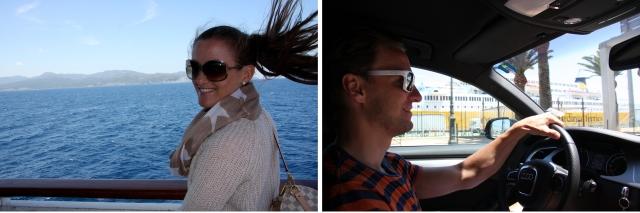 På båten til Korsika