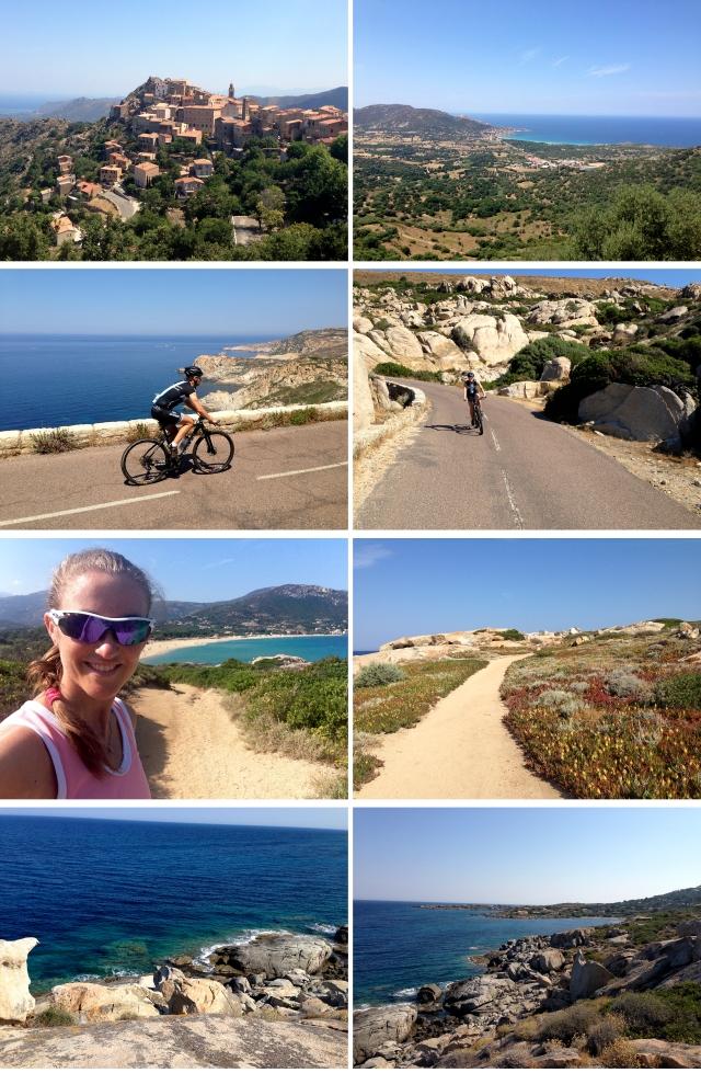 Sykling og løping på Korsika