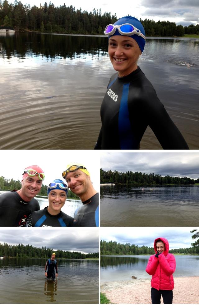 Svømmeøkt i Landfalltjern