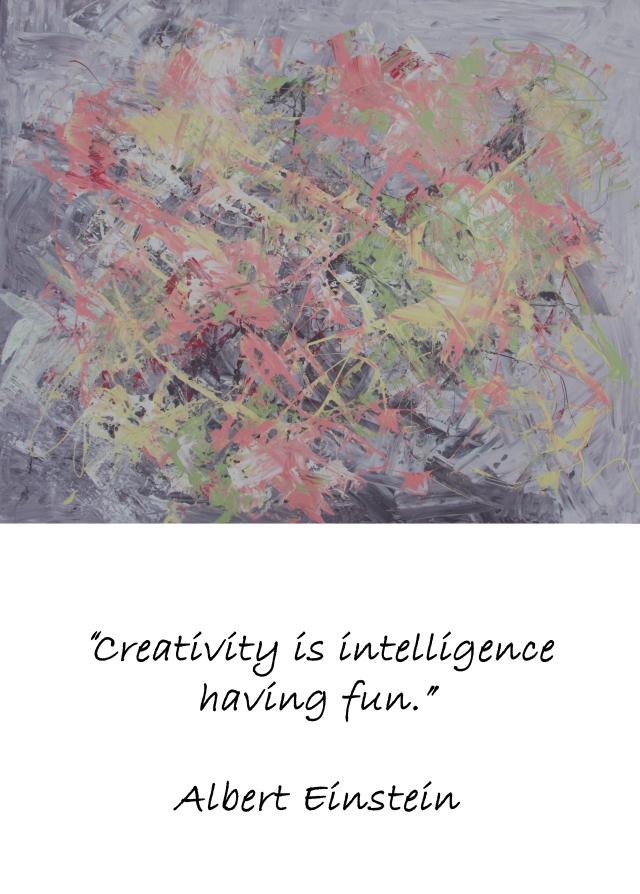 Fargerikt akrylmaleri