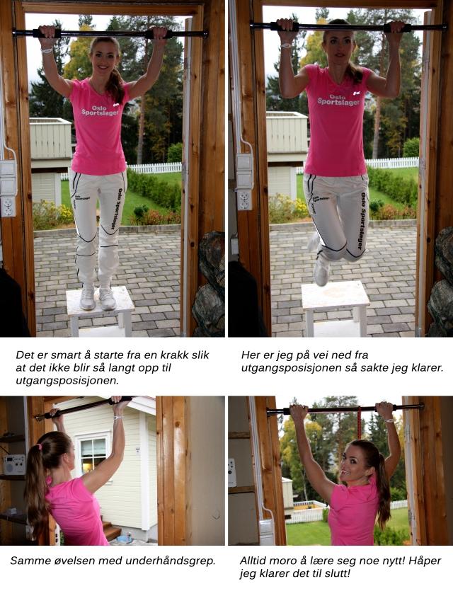 Øver på pull ups og chin ups