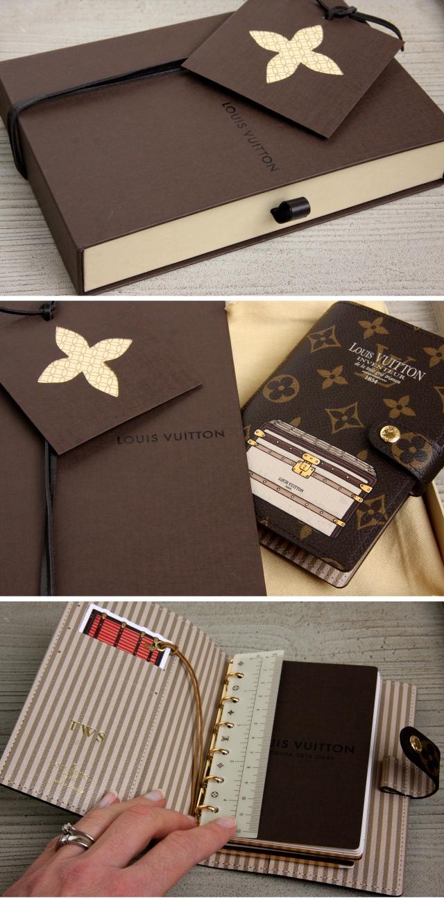 Louis Vuitton agenda cover