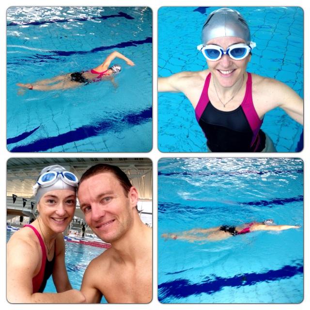 Første svømmeøkt unnagjort
