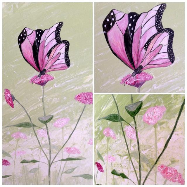 Nytt maleri med sommerfugl 1