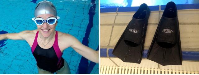 Svømmetrening med svømmeføtter 2
