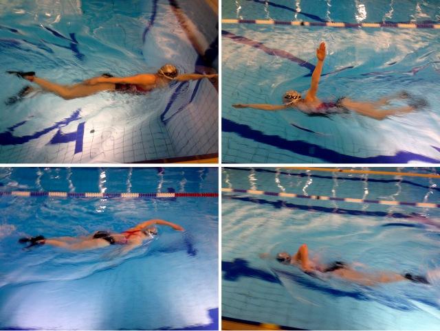Svømmetrening med svømmeføtter
