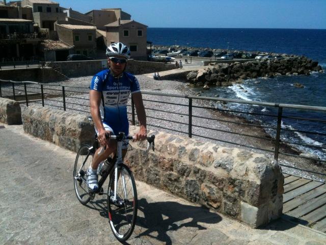 Lars Petter i Port de Valdemossa på Mallorca