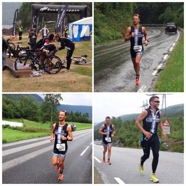 Lars Petter Stormo på løpeetappen Norseman 2014