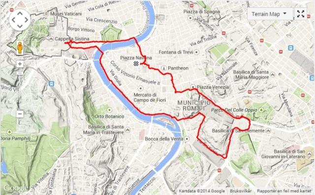 Kart løpetur i Roma 1