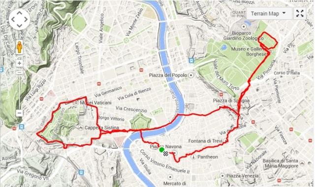 Kart løpetur i Roma 2