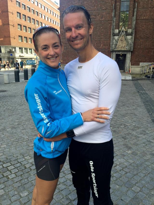 Etter målgang Oslo halvmaraton 2015