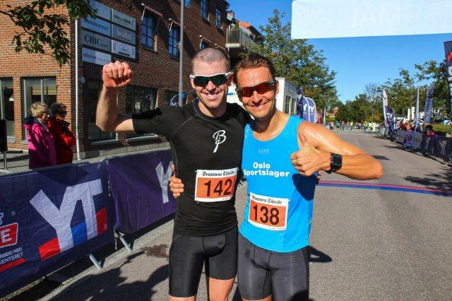 Jarle Wermskog og Lars Petter Stormo etter målgang på Montebelloløpet