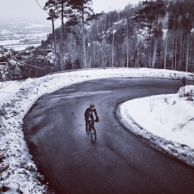 Trude Happytimes terrengsykkel vintersykling