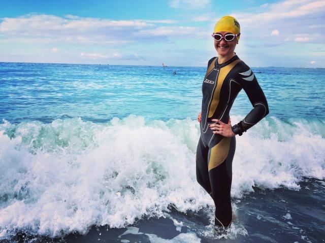 Trude svømmetrening før ironman Nice med Zone3 Victory våtdrakt