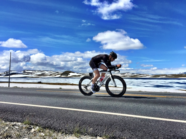 Lars Petter Stormo tester NXTRI-løypa