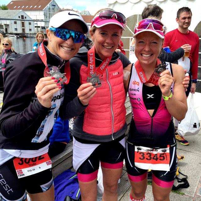 Trude Wermskog Stormo Charlotte Knudsen Line Mari Langset Ironman Haugesund 2016