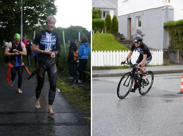 Trude Wermskog Stormo Ironman Haugesund 2016 etter svøm og ut på sykkel