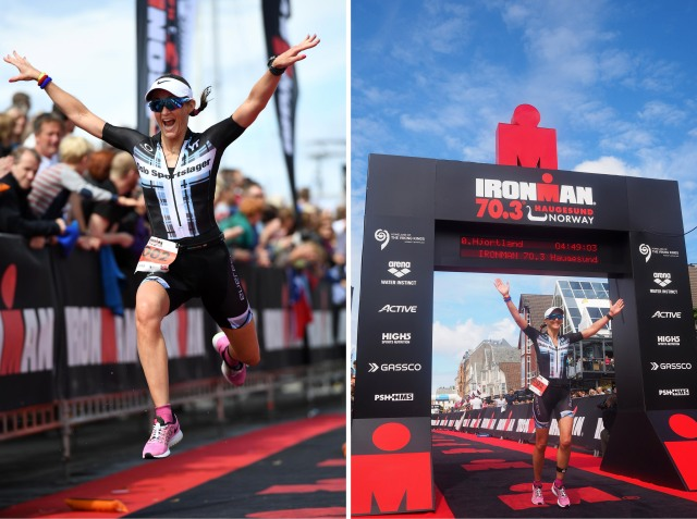 Trude Wermskog Stormo Ironman Haugesund 2016 målgang NM