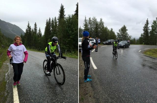 Trude Stormo Norseman langing av support team